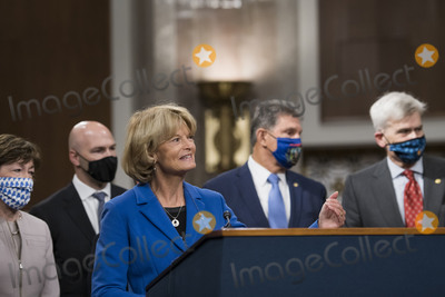 Alaska  Photo - United States Senator Lisa Murkowski (Republican of Alaska) speaks at a Capitol Hill press conference in Washington DC announcing a bipartisan 908 billion COVID emergency relief framework that is designed to break the partisan deadlock and bring economic relief to millions of Americans on Tuesday December 1 2020Credit Rod Lamkey  CNPAdMedia