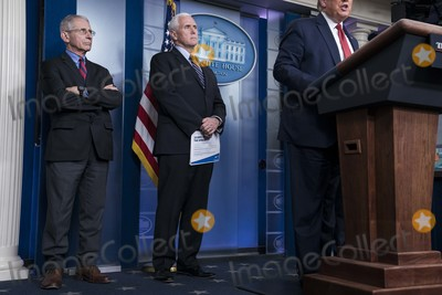 Photo - President Donald Trump Delivers Coronavirus Press Conference from the White House Briefing Room