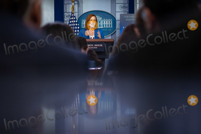 Photos From Jen Psaki Briefs Reporters at the White House