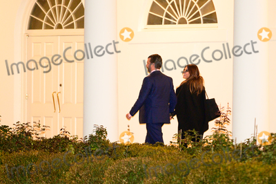 Photo - US President Donald Trumps son Donald Trump Jr and Kimberly Guilfoyle return to the White House after a visit to Dalton Georgia in Washington