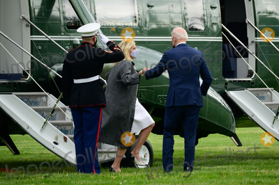 Jill Biden Photo - US President Joe Biden and First Lady Jill Biden arrive to the White House Ellipse on Marine One after a visit to Virginia in Washington DC US on Monday May 3 2021 Bidens 4 trillion vision of remaking the federal governments role in the US economy is now in the hands of Congress where both parties see a higher chance of at least some compromise than for the administrations pandemic-relief bill Credit Erin Scott  Pool via CNPAdMedia