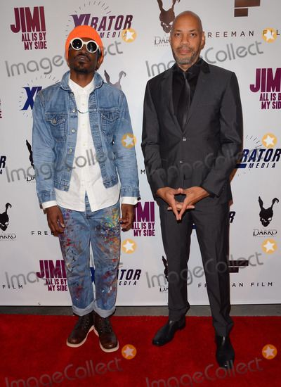 Andr 3000 Benjamin Photo - 22 September 2014 - Hollywood California - Andre 3000 Benjamin John Ridley Arrivals for the special Los Angeles screening of Jimi All Is By My Side held at The ArcLight Cinemas in Hollywood Ca Photo Credit Birdie ThompsonAdMedia