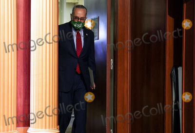 Photos From US Senate Majority Leader Schumer Press Conference On Senate Business