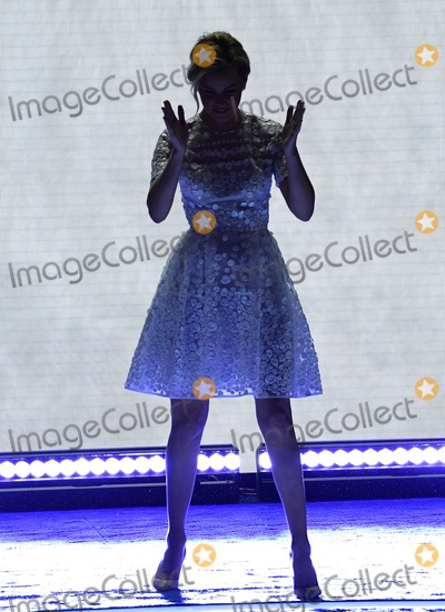 At Last Photo - Elizabeth Banks parodies Donald Trumps arrival at last weeks Republican Convention as she arrives to make remarks during the second session of the 2016 Democratic National Convention at the Wells Fargo Center in Philadelphia Pennsylvania on Tuesday July 26 2016 Photo Credit Ron SachsCNPAdMedia