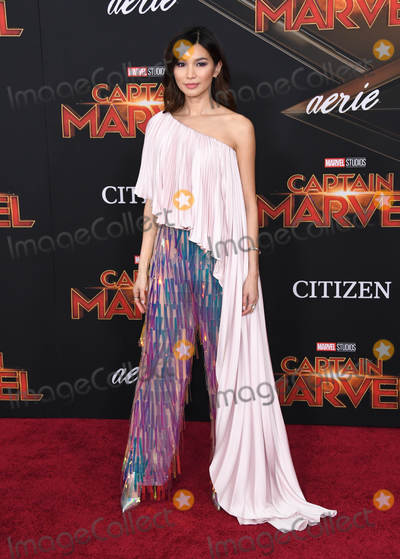 Gemma Chan Photo - 04 March 2019 - Hollywood California - Gemma Chan Captain Marvel Los Angeles Premiere held at El Capitan Theater Photo Credit Birdie ThompsonAdMedia