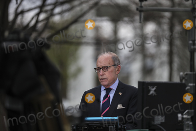 Photos From Larry Kudlow talks at the White House