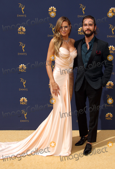 Photo - 17 September 2018 - Los Angles California - Heidi Klum and Tom Kaulitz 70th Primetime Emmy Awards held at Microsoft Theater LA LIVE Photo Credit Faye SadouAdMedia