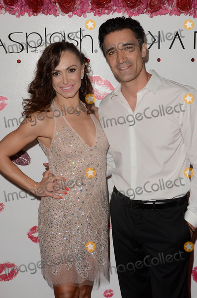 Photo - Karina Smirnoff Gilles Mariniat the launch of Karina Smirnoffs Karina Collection with LA Splash Cosmetics at the Sofitel Los Angeles at Beverly Hills CA 08-21-17