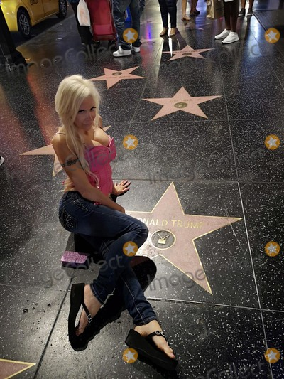 Photo - Celebrity Big Brother Star Frenchy Morgan poses with Donald Trumps Star
