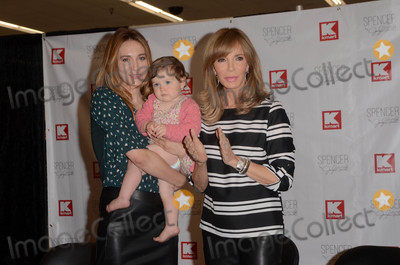 Photo - Spencer Margaret Richmond with daughter Bea and mother Jaclyn Smithat an in-store to launch the new baby clothing line Spencer by Jaclyn Smith Kmart Burbamk CA 09-23-17