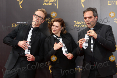 Adam Schlesinger Photo - LOS ANGELES - SEP 10  Jack Dolgen Rachel Bloom Adam Schlesinger at the 2016 Creative Arts Emmy Awards - Day 1 - Arrivals at the Microsoft Theater on September 10 2016 in Los Angeles CA