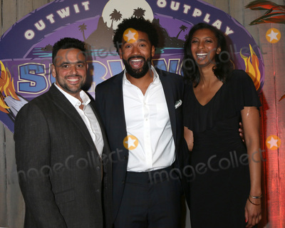 Photo - LOS ANGELES - MAY 23  Domenick Abbate Wendell Holland Laurel Johnson at the Survivor Ghost Island Finale Photo Call at CBS Studios Radford on May 23 2018 in Studio City CA