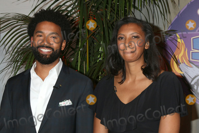 Photo - LOS ANGELES - MAY 23  Wendell Holland Laurel Johnson at the Survivor Ghost Island Finale Photo Call at CBS Studios Radford on May 23 2018 in Studio City CA
