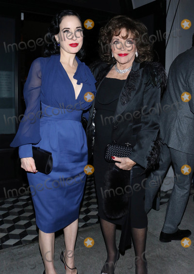 Photo - Dita Von Teese and Joan Collins are seen at Craigs Restaurant
