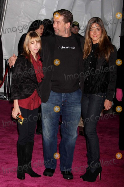 PINK PANTHER Photo - Stephen Baldwin and Daughters Hailey and Alia Arriving at the Premiere of the Pink Panther 2 at the Ziegfeld Theater in New York City on 02-03-2009 Photo by Henry McgeeGlobe Photos Inc 2009