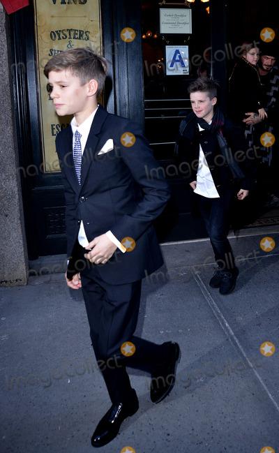 Romeo Beckham Photo - February 14 2016 New York CityRomeo Beckham (L) and Cruz Beckham leaving Baththazar Restaurant on February 14 2016 in New York CityBy Line Curtis MeansACE PicturesACE Pictures Inctel 646 769 0430