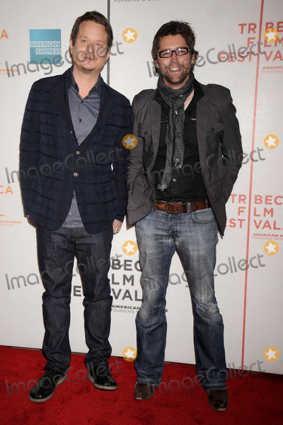 AARON WOODLEY Photo - Director Aaron Woodley and writer Russell Schaumburg arrive at the 7th Annual Tribeca Film Festival Tennessee premiere at Borough of Manhattan Community College  Tribeca Performing Arts Center
