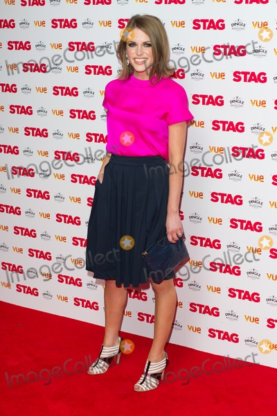 Amy Huberman Photo - Amy Huberman arriving for The Stag Premiere at Vue Leicester Square London 130032014 Picture by Dave Norton  Featureflash