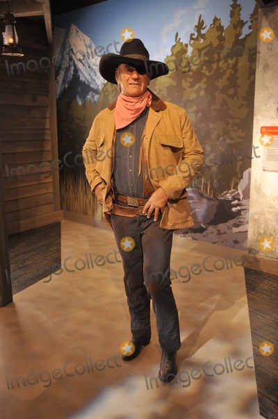 Photo - John Wayne waxwork figure - grand opening of Madame Tussauds Hollywood The new 55 million attraction is the first ever Madame Tussauds in the world to be built from the ground up It is located on Hollywood Boulevard immediately next to the world-famous Graumans Chinese TheatreJuly 21 2009  Los Angeles CAPicture Paul Smith  Featureflash