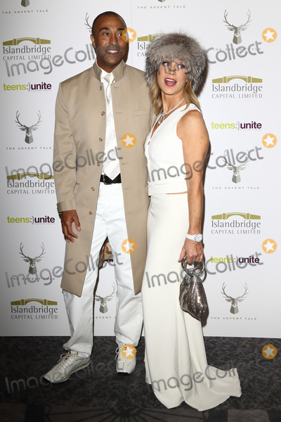Colin Jackson Photo - Colin Jackson and Karen MillenTeens Unites The Advent Tale - fundraising gala at the Grand Connaught Rooms Great Queen Street London on December 9th 2016Photo by Keith Mayhew