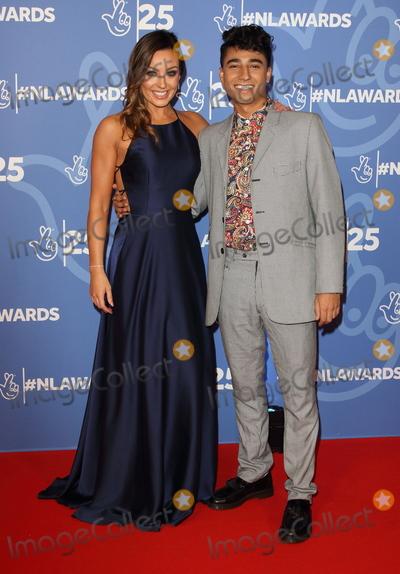 Photo - London UK Amy Dowden and Karim Zeroual at National Lottery Awards 2019 held at BBC Wood Lane London on October 15th 2019Ref LMK73-J5616-161019Keith MayhewLandmark MediaWWWLMKMEDIACOM