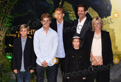 Princess Marie-Chantal Photo - London UK Crown Prince Pavlos Crown Princess Marie-Chantal and family  at The UK Premiere of The Jungle Book at BFI Imax Waterloo London on Wednesday 13 April 2016Ref LMK392 -60185-140416Vivienne VincentLandmark Media WWWLMKMEDIACOM