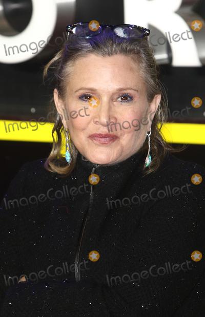 Photo - LondonUK Carrie Fisher at the Star Wars The Force Awakens - European Premiere at Leicester Square  16th December 2015Ref LMK73-59062-171215Keith MayhewLandmark Media WWWLMKMEDIACOM