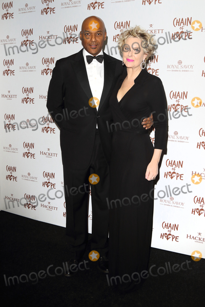Photo - London UK  Colin Salmon and wife Sylvia Ivy Brudenell Salmon   at the Chain Of Hope Ball at Old Billingsgate Lower Thames Street London 16 November 2018 RefLMK73-S1930-171118Keith MayhewLandmark Media WWWLMKMEDIACOM