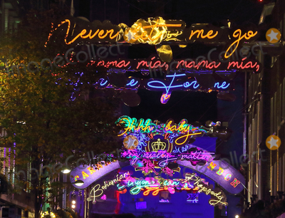 Photo - London UK Christmas Lights in  Carnaby Street London  16 November 2018 RefLMK73-S1931-171118 Keith MayhewLandmark Media WWWLMKMEDIACOM