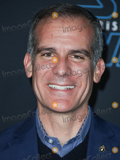 Photos From (FILE) Mayor of Los Angeles Eric Garcetti says his city will be on lockdown for another 2 months ami