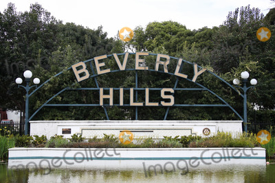 Photos From Beverly Hills Sign In Beverly Gardens Park Amid Coronavirus COVID-19 Pandemic