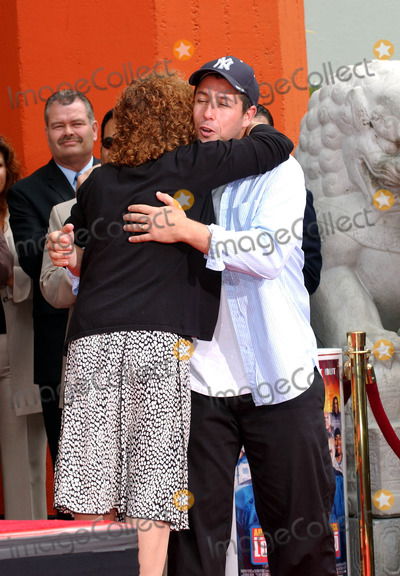 Adam Sanders Photo - Adam Sandler Honored with Hand and Foot Print Ceremony at Graumans Chinese Theater in Hollywood CA 05-17-2005 Photo by Fitzroy BarrettGlobe Photos Inc 2005 Adam Sander and His Mother Judy Sandler