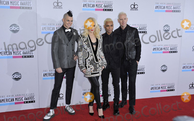 Adrian Younge Photo - Adrian Young Gwen Stefani Tony Kanal Tom Dumant (No Doubt) attending the 40th Anniversary American Music Awards- Arrivals Held at the Nokia Theatre in Los Angeles California on November 18 2012 Photo by D Long- Globe Photos Inc