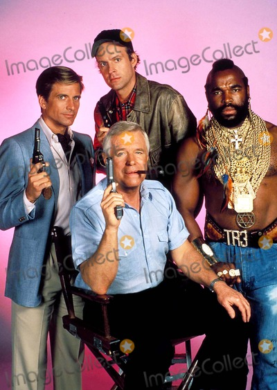 Dirk Benedict George Peppard Mr T The Team Photo