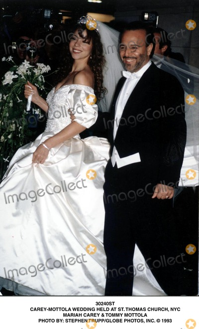 Mariah Carey Tommy Mottola Photo Wedding Held At St Thomas