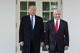 Benjamin Netanyahu Photo - United States President Donald J Trump and Benjamin Netanyahu Prime Minister of the State of Israel stand for a photo outside of the White House in Washington DC US on Monday January 27 2020Credit Stefani Reynolds  CNPAdMedia