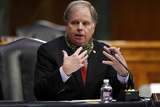Alabama Photo - United States Senator Doug Jones (Democrat of Alabama) speaks during a US Senate Health Education Labor and Pensions Committee hearing on new coronavirus tests on Capitol Hill in Washington Thursday May 7 2020Credit Andrew Harnik  Pool via CNPAdMedia