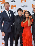 Alexander Skarsgrd Photo - 08 September 2018 - Toronto Ontario Canada - Alexander Skarsgrd Jesse Eisenberg Salma Hayek The Hummingbird Project Premiere - 2018 Toronto International Film Festival held at the Princess of Wales Theatre Photo Credit Brent PerniacAdMedia