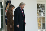 The National Photo - United States President Donald J Trump and First lady Melania Trump arrive in the Rose Garden to present the National Thanksgiving Turkey at the White House in Washington DC on Tuesday November 26 2019 Credit Chris Kleponis  Pool via CNPAdMedia