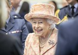 Train Photo - 03022020 - Queen Elizabeth II is greeted by Personnel at RAF Marham where she inspected the new integrated training centre that trains personnel on the maintenance of the new RAF F-35B Lightning II strike aircraft Marham Norfolk Photo Credit ALPRAdMedia