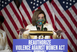 Representative Nancy Pelosi Photo - Speaker of the United States House of Representatives Nancy Pelosi (Democrat of California) offers remarks at a press conference regarding the Violence Against Women Act at the US Capitol in Washington DC Wednesday March 17 2021 Credit Rod Lamkey  CNPAdMedia