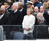 Bill Clinton Photo - Former President Bill Clinton (L) and Hillary Clinton wait with former President GeorgeW Bush (R) at inauguration on January 20 2017 in Washington DC  Donald Trump becomes the 45th President of the United States Photo Credit Pat BenicCNPAdMedia