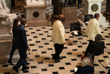 Alcee Hastings Photo - Members arrive to a ceremony celebrating the life of the late US Representative Alcee Hastings (Democrat of Florida) in Statuary Hall of the Capitol in Washington DC on April 21st 2021Credit Anna Moneymaker  Pool via CNPAdMedia