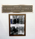 Queen Elizabeth II Photo - 05022020 - A plaque on the wall commemorates when King George VI opened the original station on February 2 1948 during the visit of his daughter Queen Elizabeth II to Wolferton Pumping St Photo Credit ALPRAdMedia