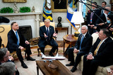 Mike Pence Photo - United States President Donald J Trump and Polish PresidentAndrzej Duda during a bilateral meeting in the Oval Office of the White House in Washington DC on June 24 2020 From left to right President Duda President Trump US Vice President Mike Pence US Secretary of State Mike PompeoCredit Erin Schaff  Pool via CNPAdMedia