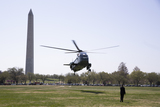 Marine One Photo - Marine One carries US President Joe Biden and First Lady Jill Biden as it arrives on the Ellipse near the White House in Washington DC USA 05 April 2021 Biden returns to the White House following a trip to Camp DavidCredit Michael Reynolds  Pool via CNPAdMedia