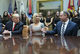 The Interns Photo - United States President Donald J Trump and First Daughter and Advisor to the President Ivanka Trump are briefed by Administrator National Aeronautics and Space Administration (NASA) Jim Bridenstine at the White House in Washington DC before congratulating NASA astronauts Jessica Meir and Christina Koch after they conducted the first all-female spacewalk outside of the International Space Station on Friday October 18 2019Credit Chris Kleponis  Pool via CNPAdMedia