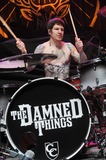 Andy Hurley Photo - 08 February 2011 - Youngstown OH - Drummer ANDY HURLEY (of the pop punk band FALLOUT BOY fame) performs with his new heavy metal supergroup THE DAMN THINGS at a stop on the Jagermeister Music Tour 2011 held at the Covelli Centre Photo Credit Jason L NelsonAdMedia