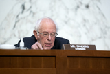 Bernie Sanders Photo - United States Senator Bernie Sanders (Independent of Vermont) speaks during a US Senate Budget Committee hearing at the Hart Senate Office Building on Capitol Hill in Washington DC US on Thursday March 25 2021 Credit Stefani Reynolds  CNPAdMedia