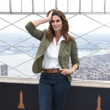 The Ceremonies Photo - 04 March 2020 - New York New York - Cindy Crawford at the ceremonial lighting of the Empire State Building in celebrating International Womens Day and promoting the nonprofit Delivering Good Held in the Lobby and on the Observation Deck of the Empire State Building Photo Credit LJ FotosAdMedia
